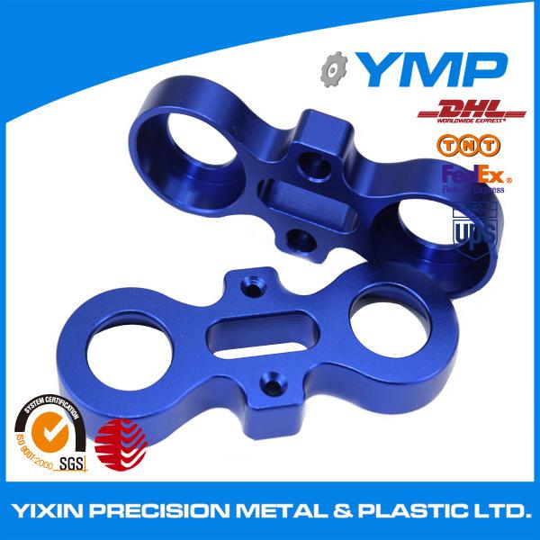 hecho personalizado con piezas de mecanizado CNC de aluminio anodizado color