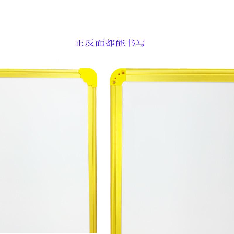 Foto de De doble cara magnética pizarra borrado en seco en el marco ...
