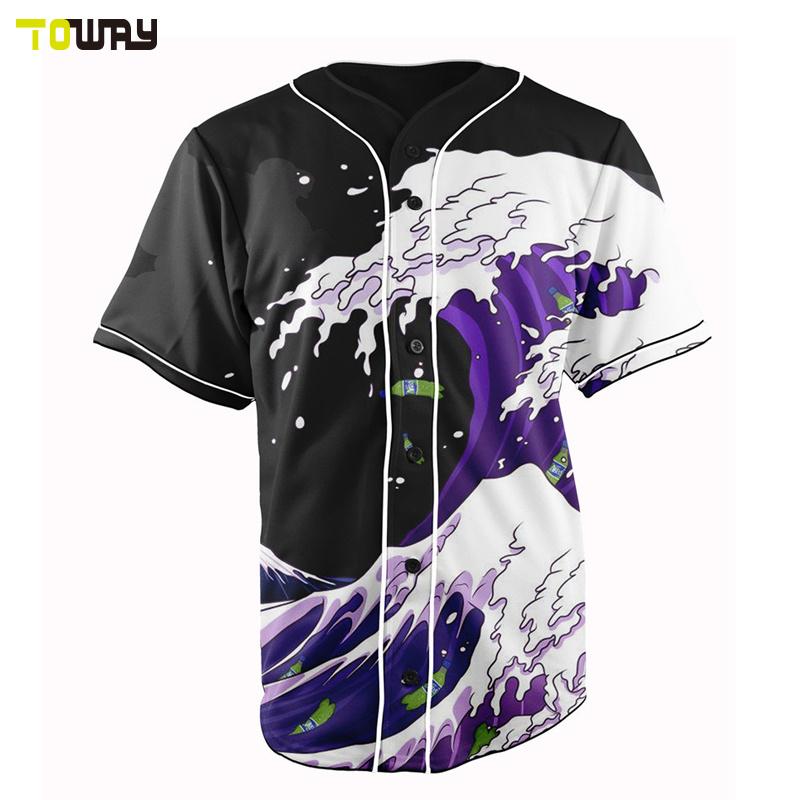 Servizio Oem Custom Sublimazione Baseball Jersey Design