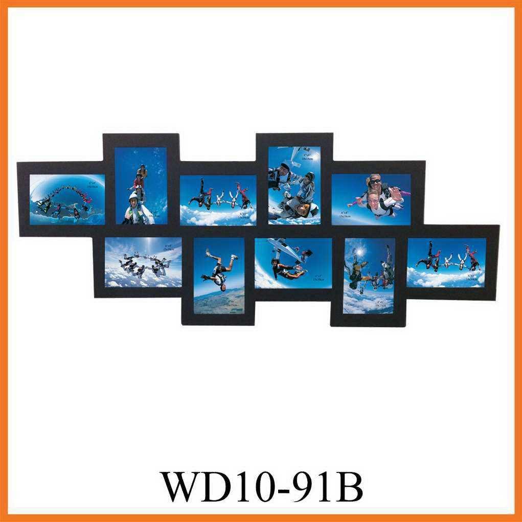10-la apertura de pared de madera negra el marco de fotos, la ...