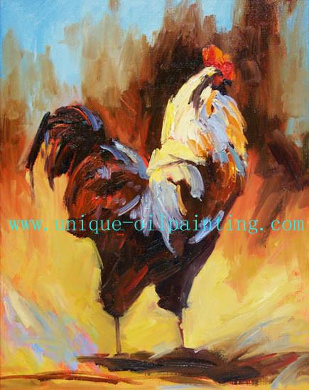 Chine Huile sur toile, Coq Huile sur toile, l'Impressionnisme Peinture d'huile - Acheter Huile ...