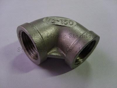 Raccordo per tubi in acciaio inox gomito a 90 gradi F/F.