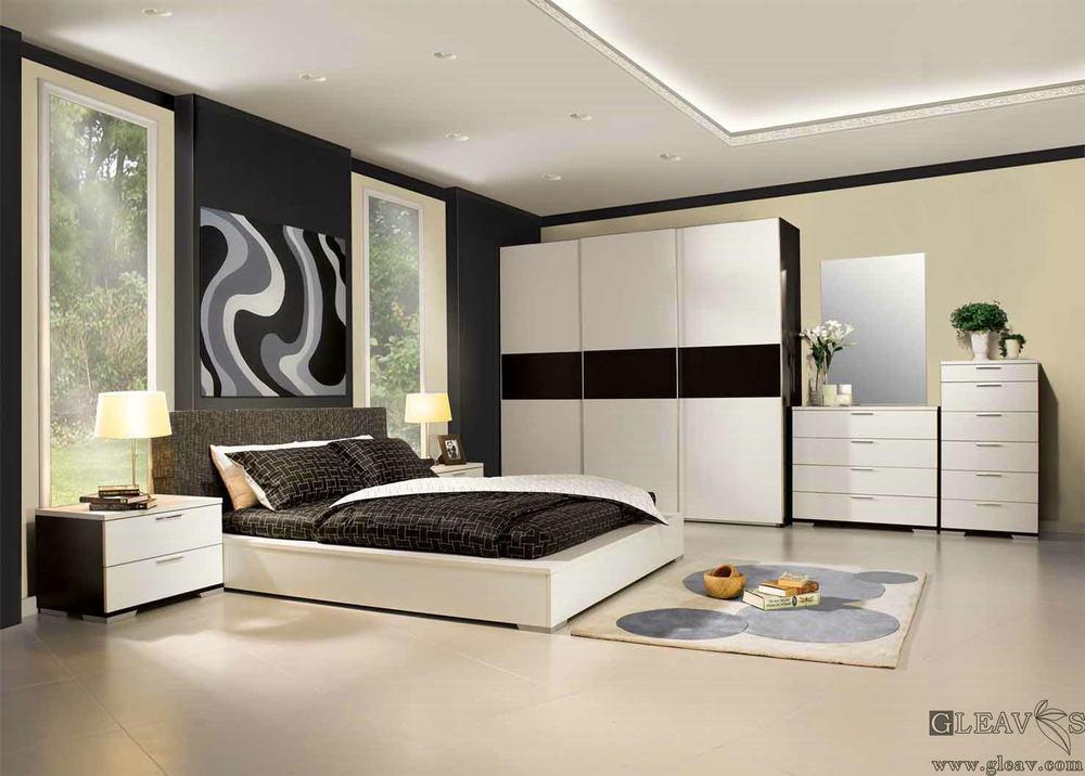 [Hot Item] Chambre à coucher Mobilier moderne en bois mis en Foshan Chine