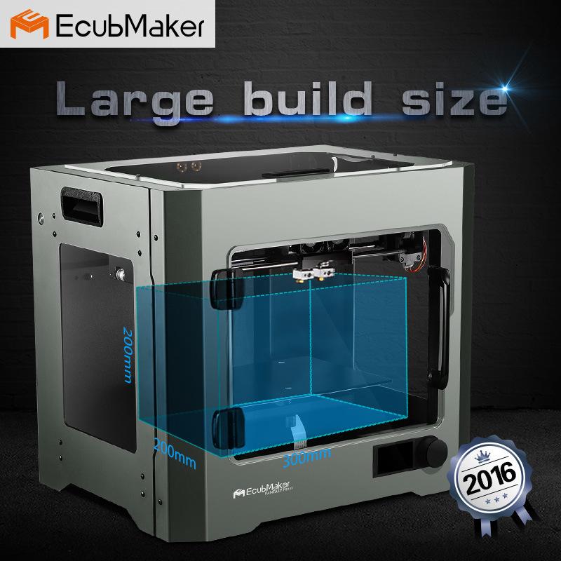 2016 LCD DIY 3D Printer van het Metaal, de Grote van de de 3D-printerKoolstof van de Machines van de Grootte van de Druk 3D Printer van de Vezel