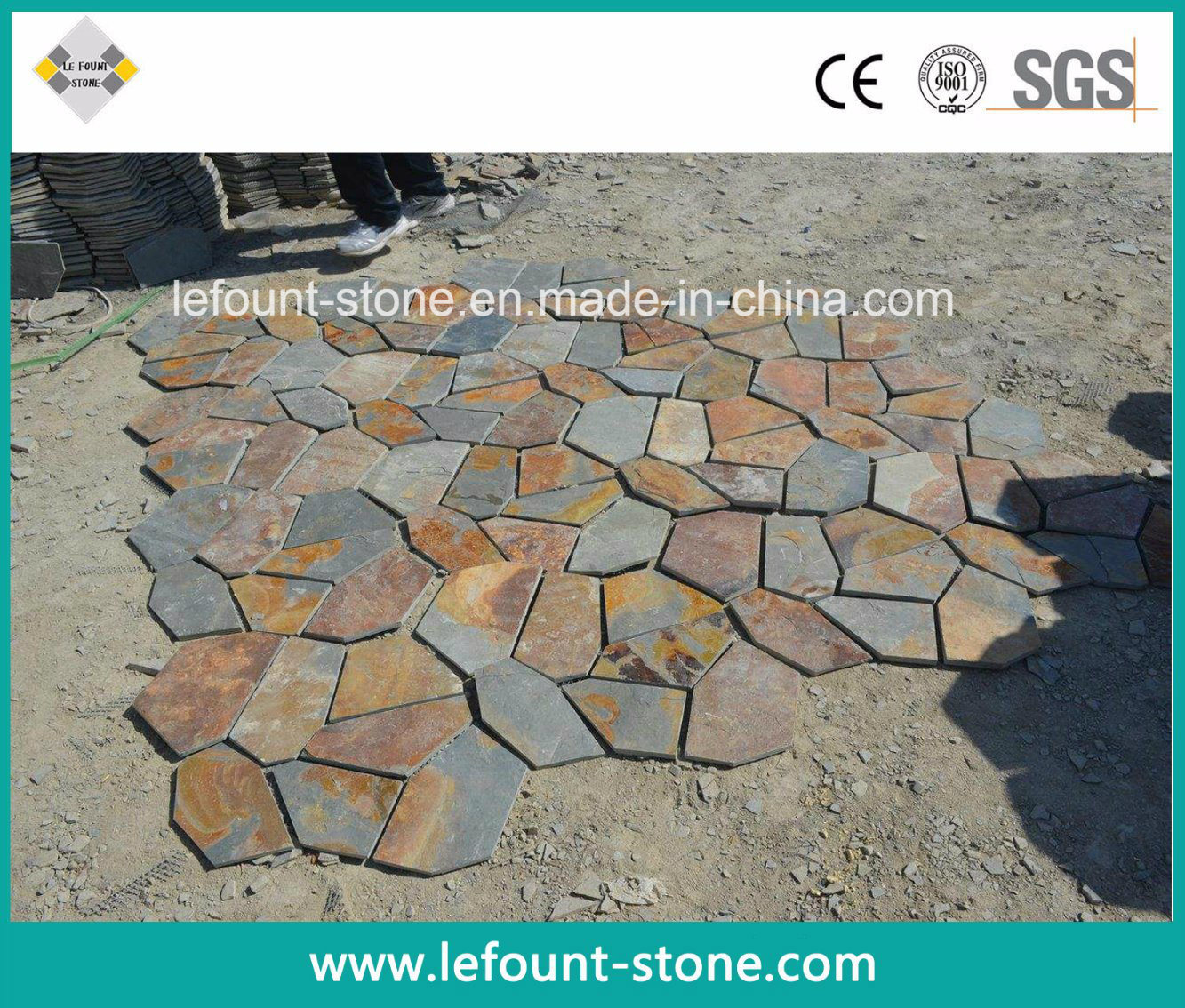 Dalle Ardoise 100 X 30 chine rusty dalles en ardoise pour outdoor/pavage de jardin