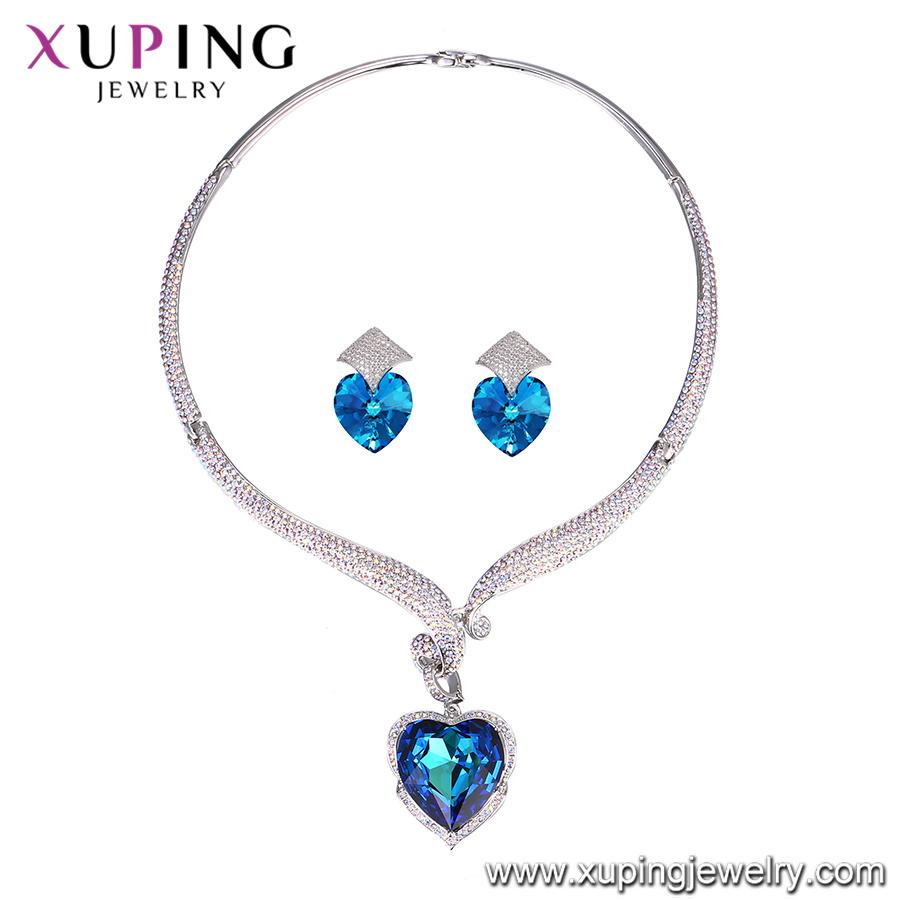 1654f17aa955 Foto de Swarovski Elements Amor Corazón 925 Conjunto de joyas en ...