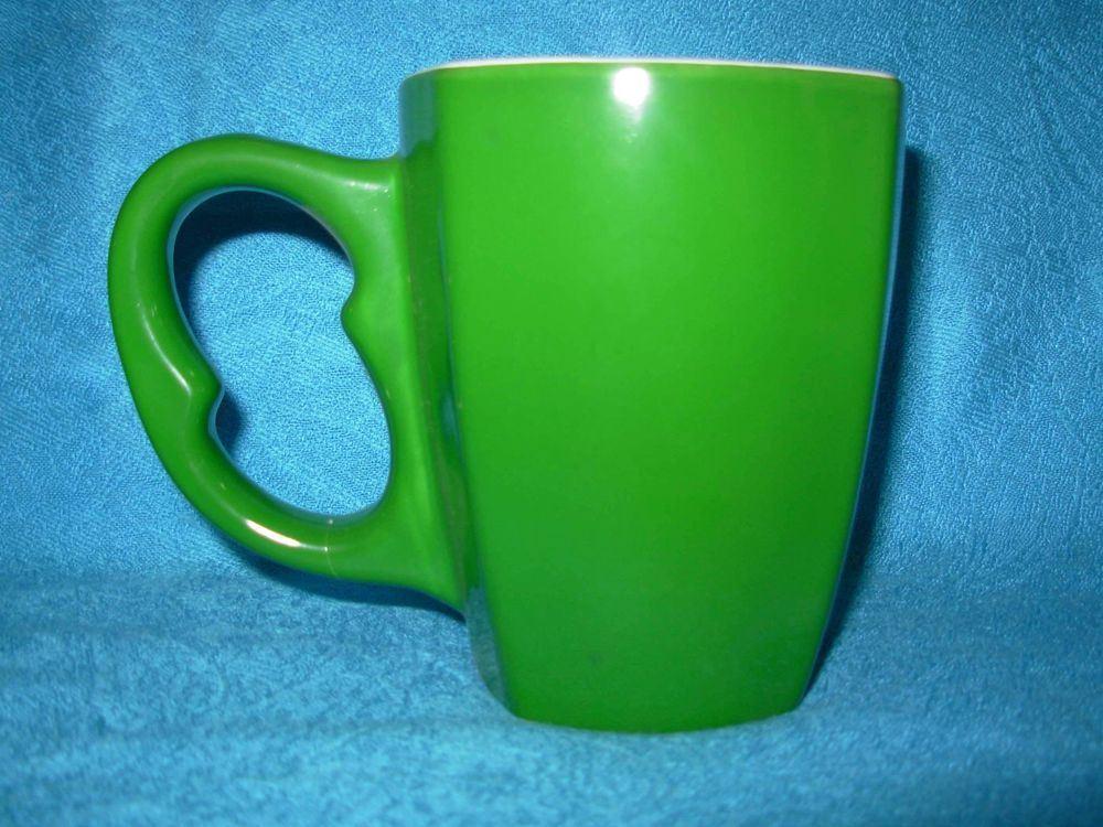 Deux tons carrés vitrage grès promotionnelle/tasse à café tasse en céramique (WSY376M)