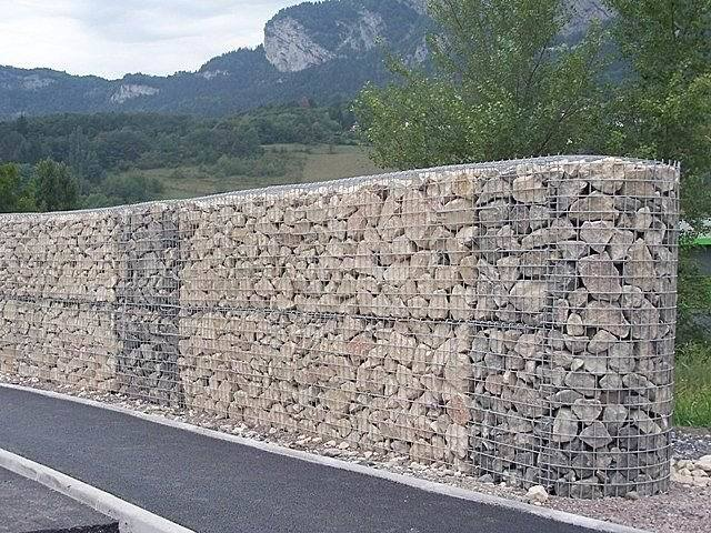 rock mur de gabions pierre cages rock mur de gabions. Black Bedroom Furniture Sets. Home Design Ideas