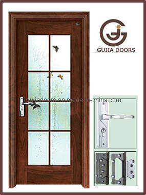Puertas de cristal de madera de la chapa mm 050 for Puertas de madera con cristal precio
