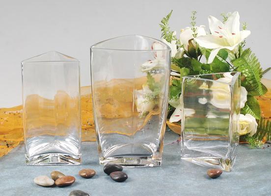 Handmade Trigon Vase en verre