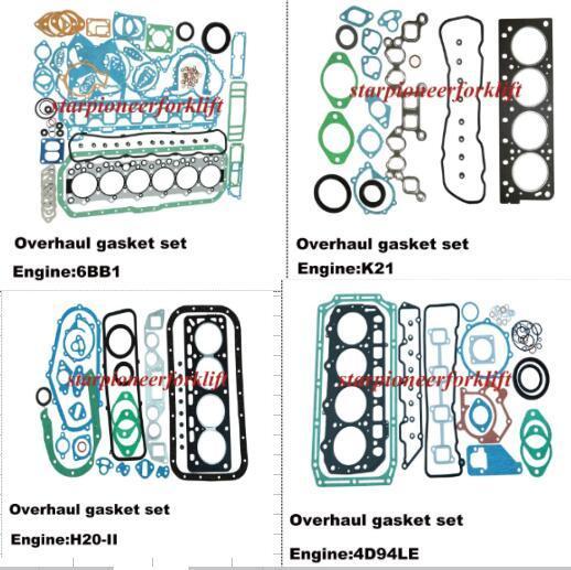 As peças do motor do carro elevador Kits de junta de revisão 6BB1/K21/H20/4D94LE