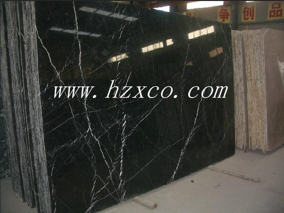Nero Marquina черного цвета, черным мрамором, мраморные плиты
