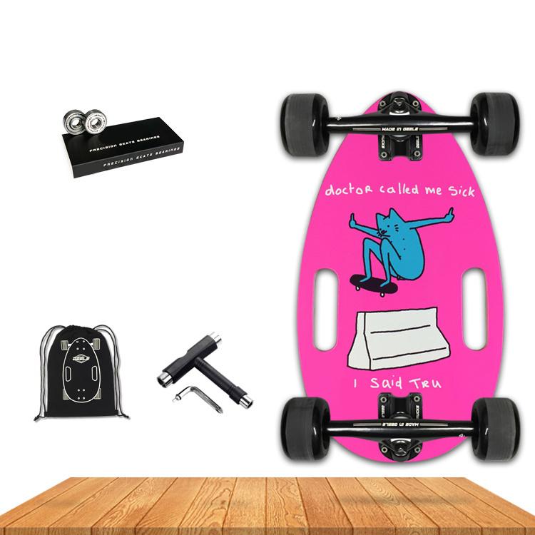 Personalizar Deck Branco Mini 150W 4 Rodas Skate eléctrico com 7 camadas do Nordeste / roda plástica ácer canadiano