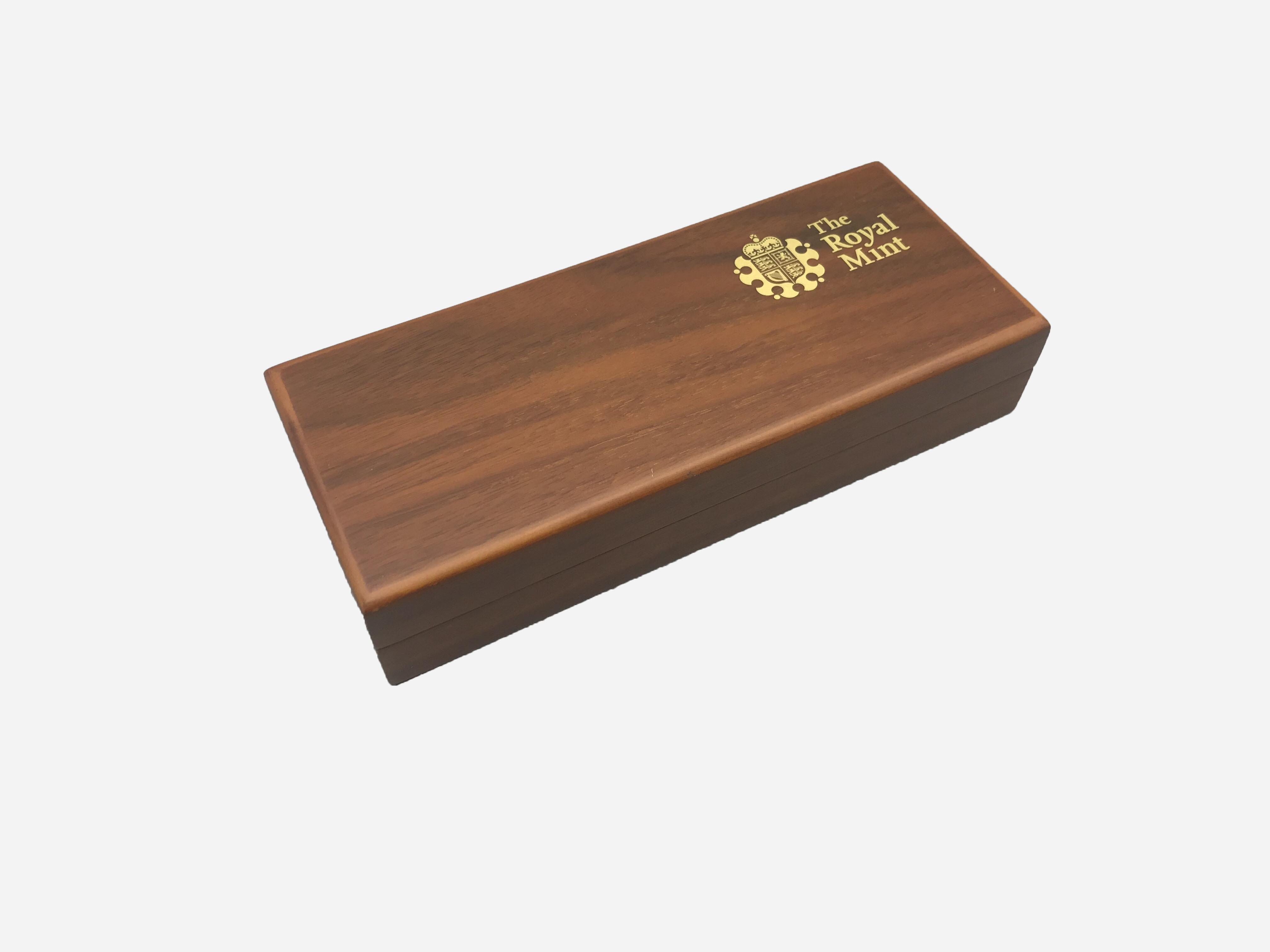 Brown Matt Wood boîte cadeau Pen Stockage emballage Pen cas
