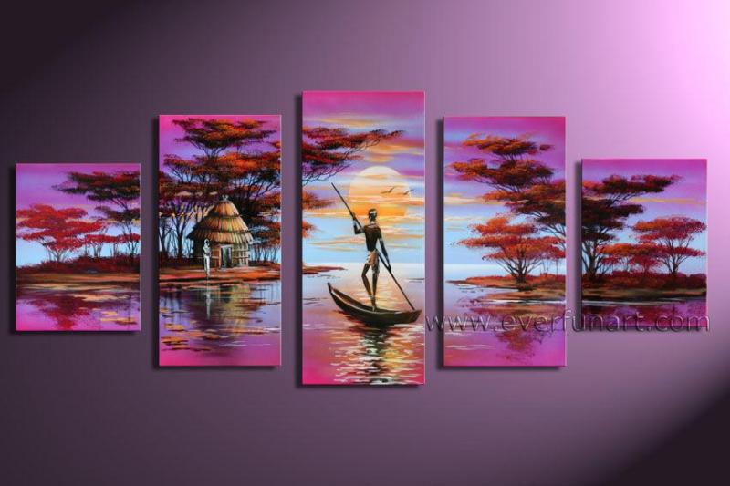 Foto de el arte africano tela pintura al leo ar 003 en for Comprar cuadros bonitos