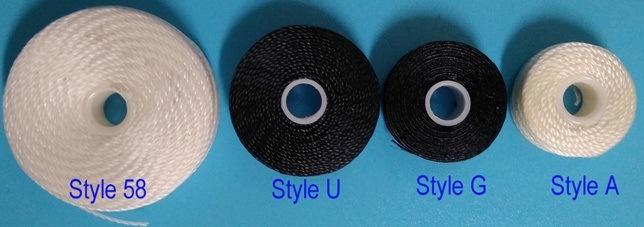 Bobbin Prewound, 100% полиэстер, модель a, стиль G, Стиль L, Стиль М, стиле U, стиль 33 и стиль 58, используется для швейной промышленности