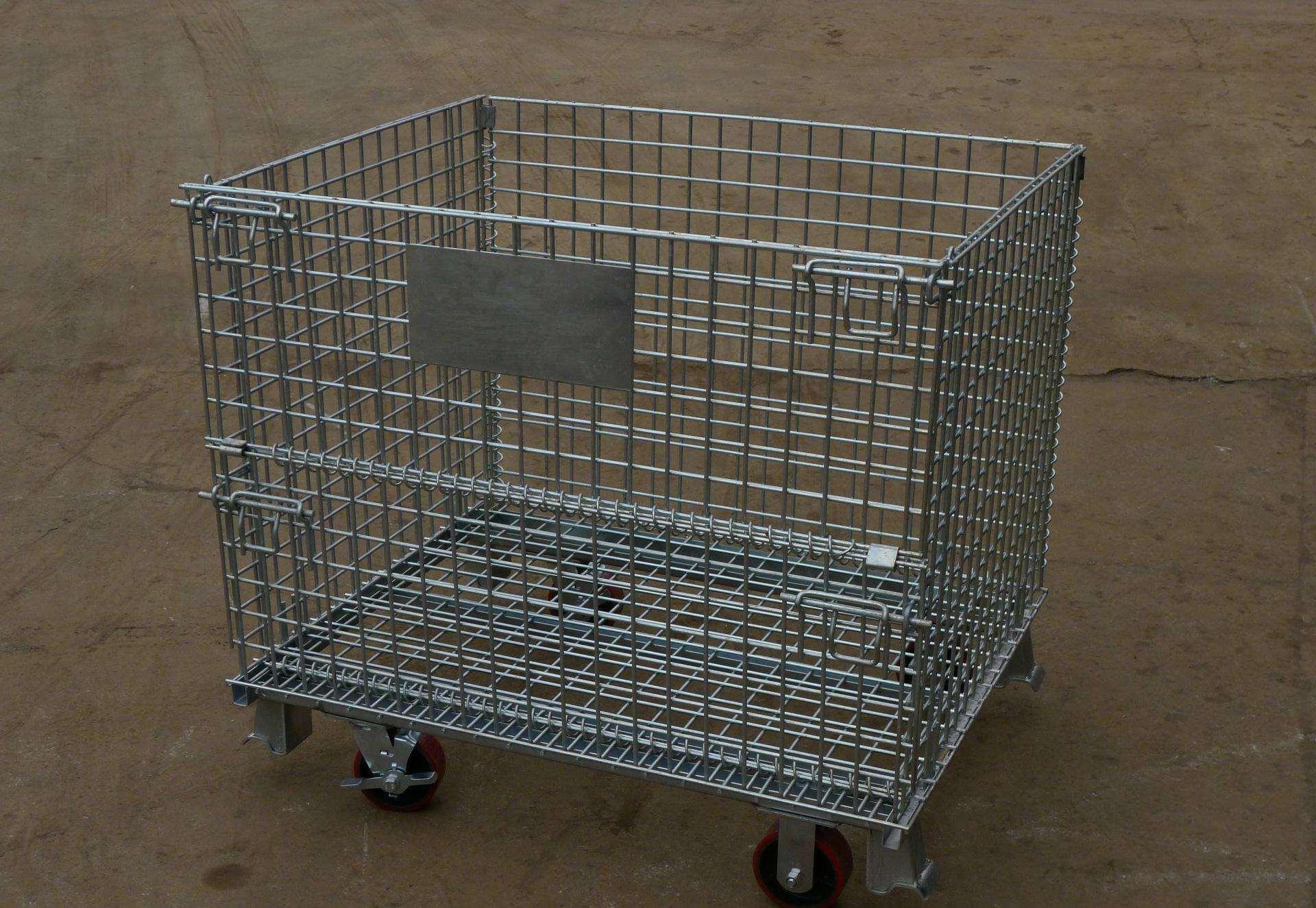 Faltbarer galvanisierter Maschendraht-Speicher-Rahmen