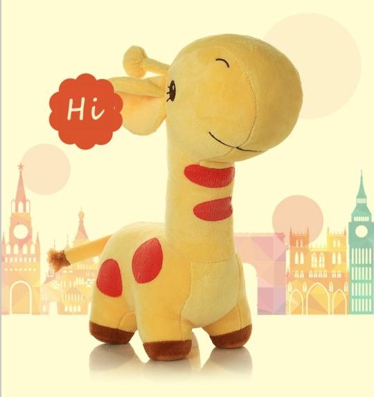 견면 벨벳 지라프 박제 동물 장난감 연약한 인형이 귀여운 사랑스러운 소녀 발렌타인에 의하여 농담을 한다