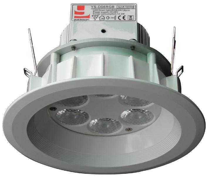 Del LED luce giù (YS-D06RGB)