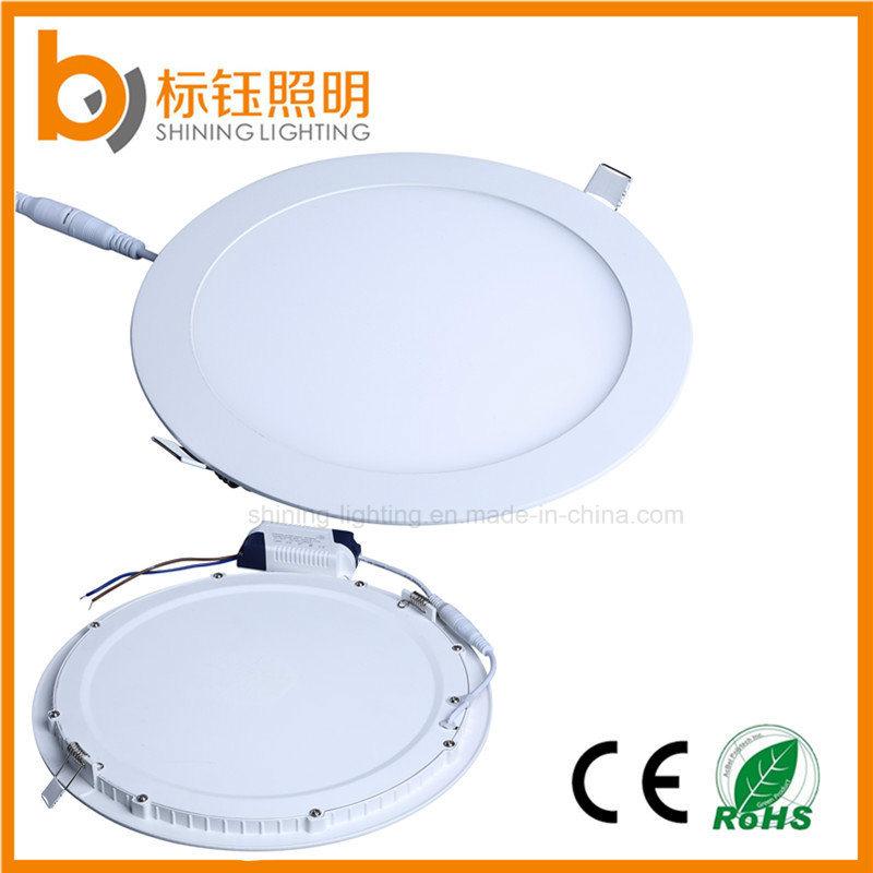 Lâmpada do painel de LED fino 12W Caixa redonda Limite Máximo de iluminação da luz para baixo