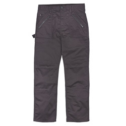 "Pantalon de Beagle Black 34"" W 32"" L, Flat-Fronted pantalon avec poches Top-Loading Knee Pad"