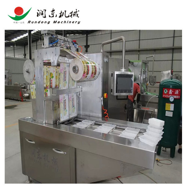 Map Gas Filling Continuous Tray Vacuum Sealer/Vacuum Packing Machine