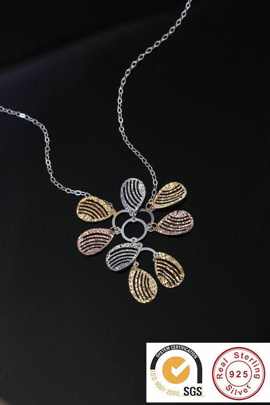 Мода 925 серебристые ожерелье с очарованием