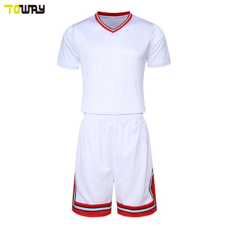 2018 New Design Plain White Basketball Jersey Uniform