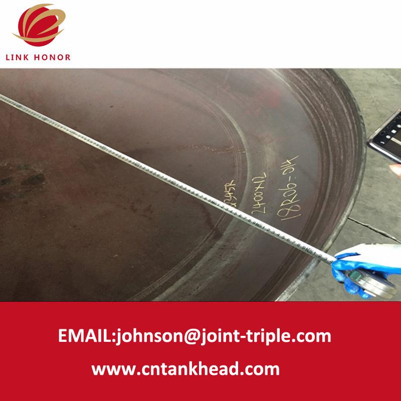 05-15 testa servita ASME del piatto del acciaio al carbonio 2400mm*12mm