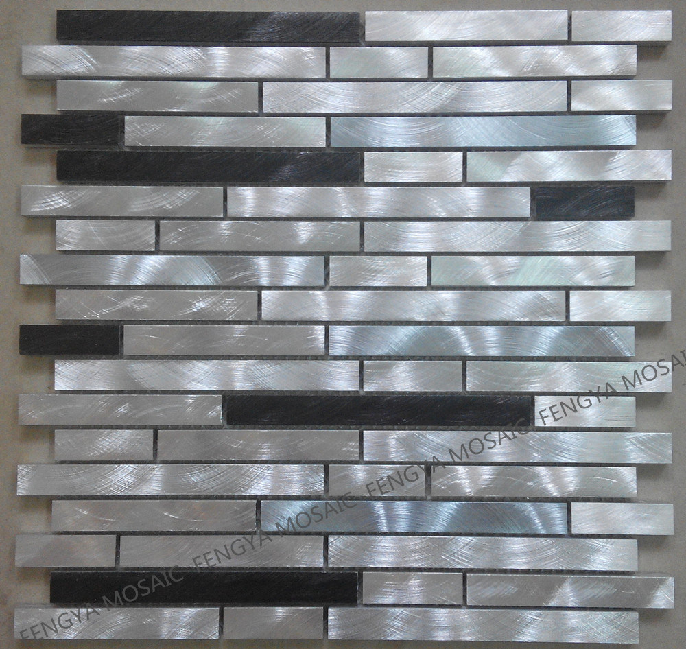 Silberner Metallmosaik für Wanddekoration