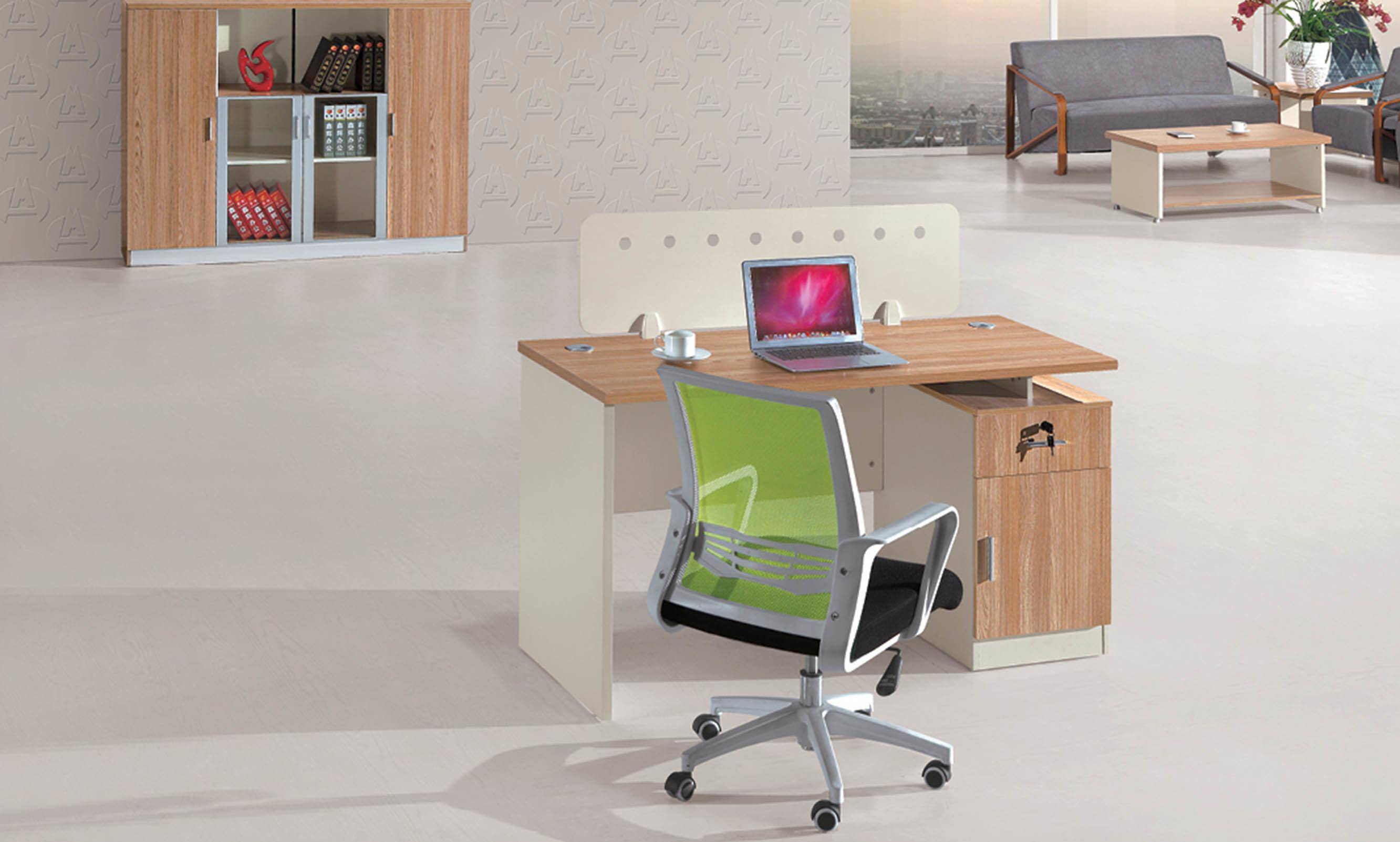 Table de bureau moderne en bois simple avec pédestre photo sur fr