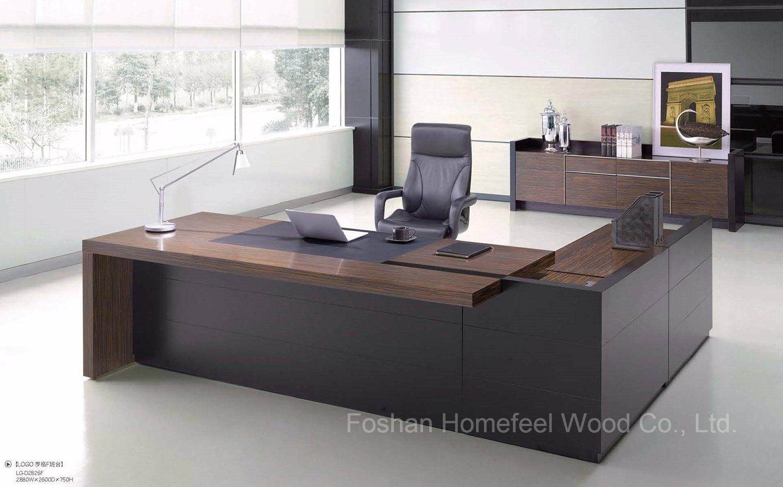 Foto de Diseño moderno de lujo en mesa de oficina escritorio ...