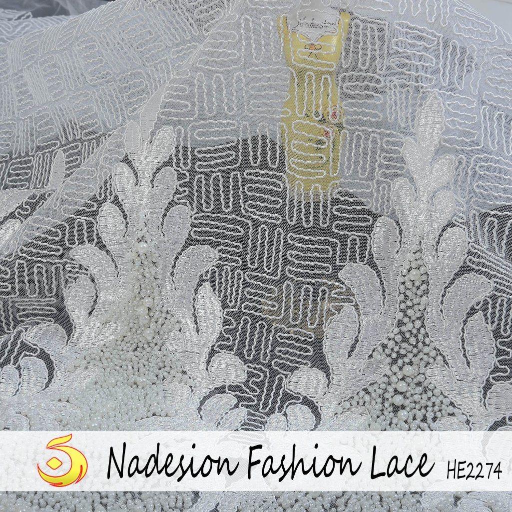 Tessuto elegante del merletto del Organza di nuovo modo comodo di disegno