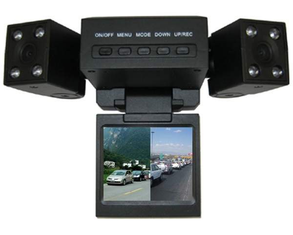 Câmara dupla carro HD áudio do gravador DVR