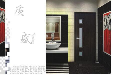 木製のプラスチック合成のドア(zk007)