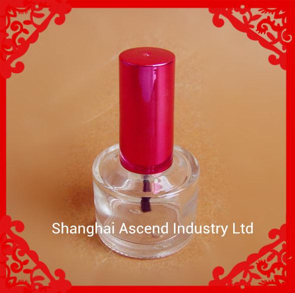 14ml el cilindro de esmalte de uñas Botella de vidrio con tapa y el cepillo
