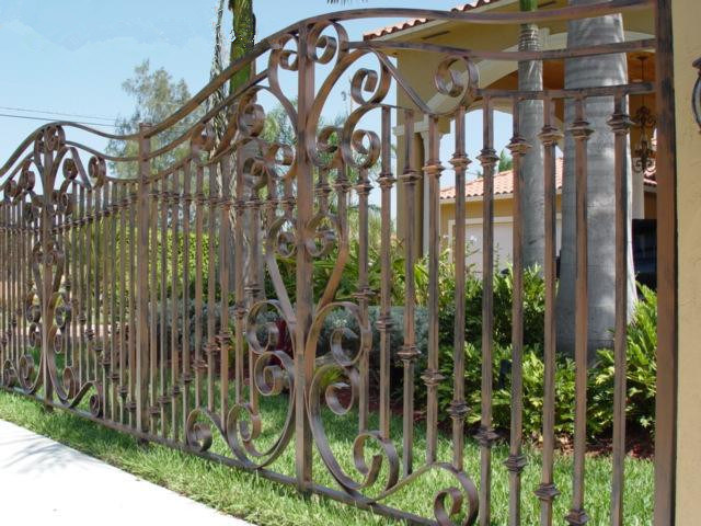 Cerca decorativa de la casa de la cerca del hierro lb g f - Cercas de hierro ...
