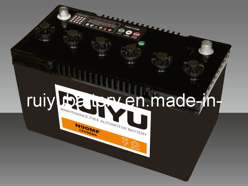 12V90ah Ns100L/R-SMF wartungsfreie Kfz-Batterie