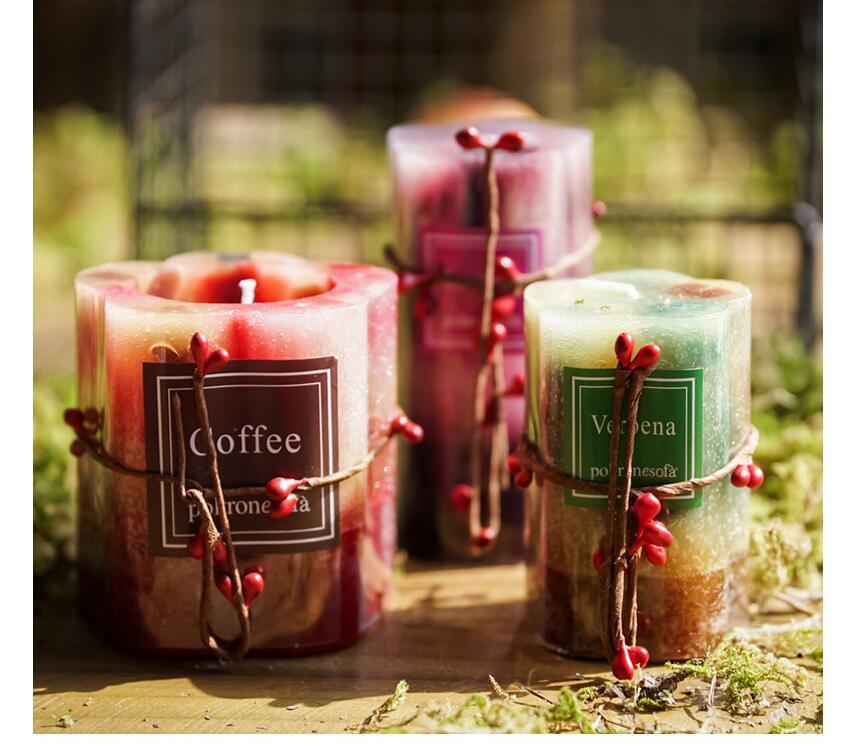 Candela della colonna della cera di fragranza dell'aroma, candela della paraffina