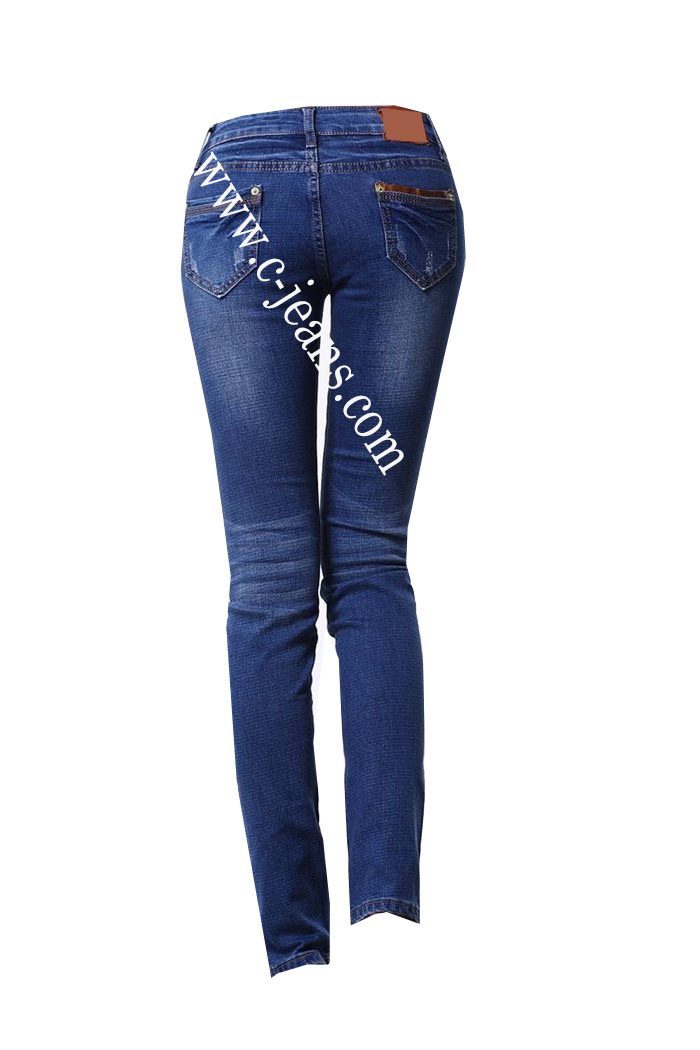 2014 Mulheres moda jeans calças jeans denim (1482)