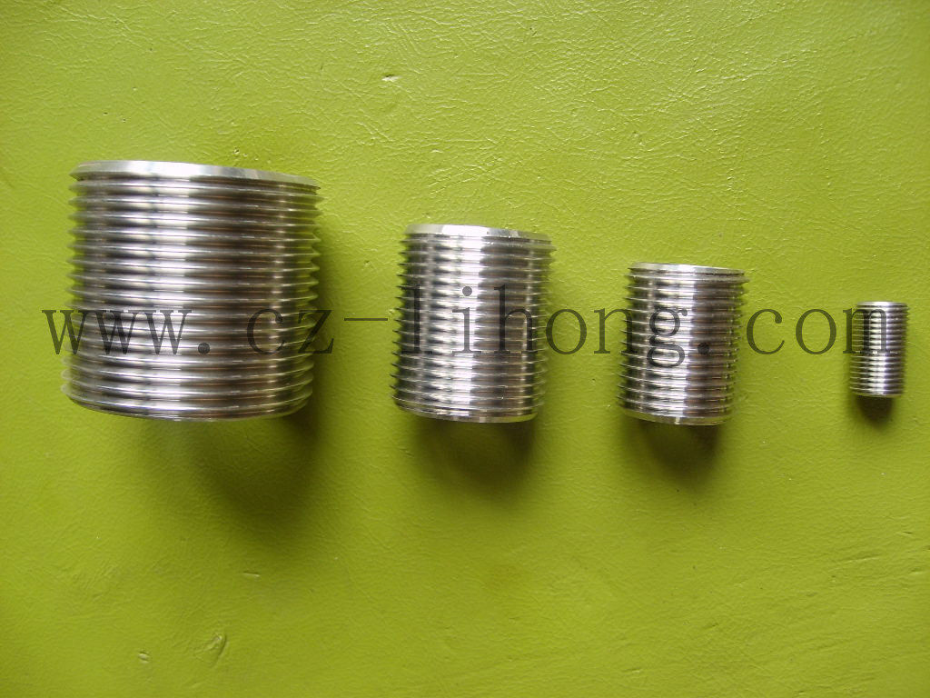 """1-1/4"""" acciaio inox 316 DIN2999 chiudere il nipplo dal tubo"""