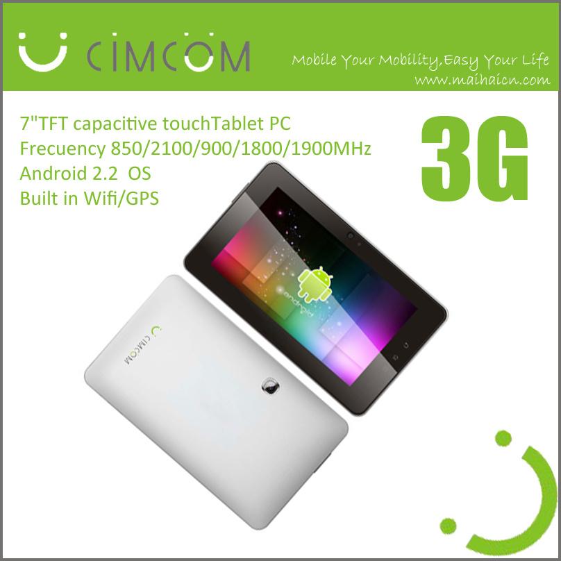 7-дюймовых планшетных ПК, поддерживает 3G и Wi-Fi с Android2.2, Qualcomm (GN870)