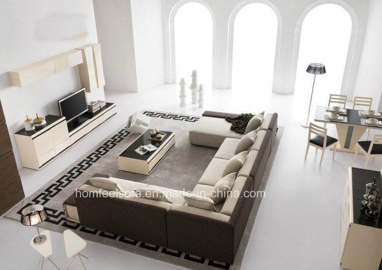 Sofa faisant le coin moderne sectionnel de salon de tissu for Le salon du coin plouharnel