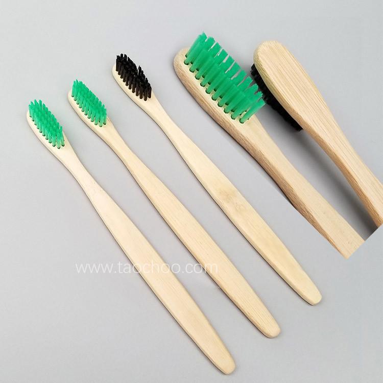 Matryoshka Doll Shape Pba Free Charcoal Bristle Bamboo Toothbrush, Kraft Box의 Individually Packed