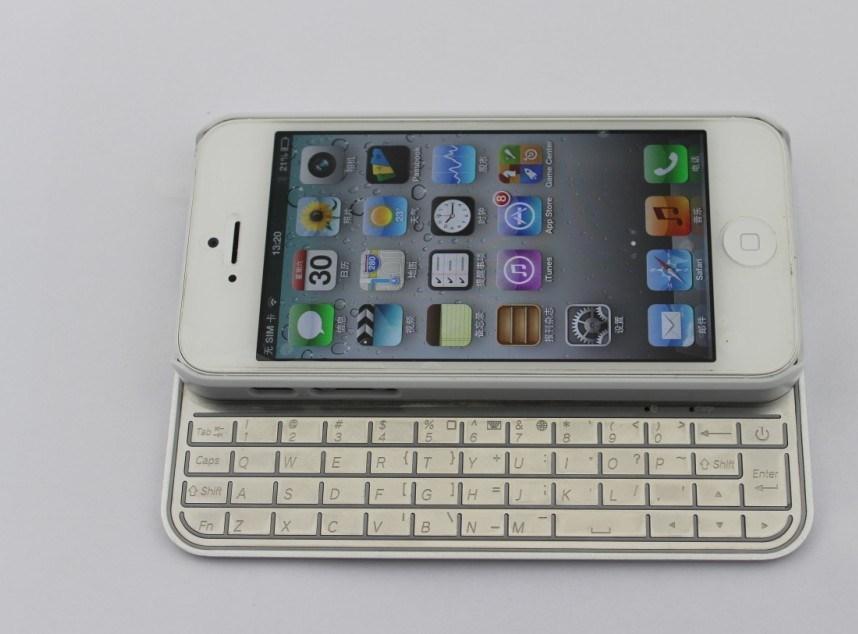 Het uiterst dunne Geval van het Toetsenbord Bluetooth voor iPhone 5 (KRMSK01A)