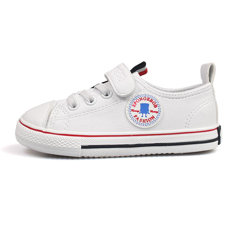 Addestratore casuale bianco 7099 dell'addestratore dell'unità di elaborazione del nero di modo dei 2019 bambini della molla della neonata di marca di sport del ragazzo di cuoio della scarpa da tennis