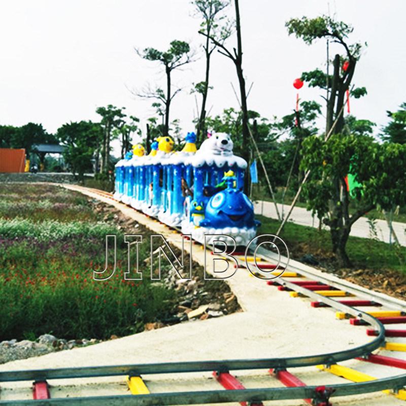 Jinbo infantil eléctrico Atracciones vía tren feliz Mini vía tren