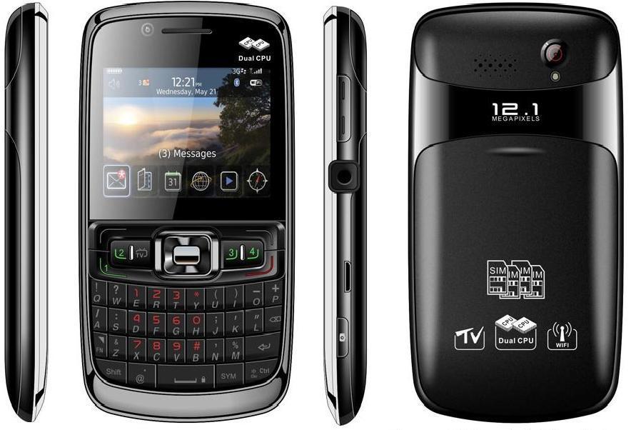Super Dubbele TV 4 van WiFi van de Kop Mobiele Telefoon SIM (Y2011)