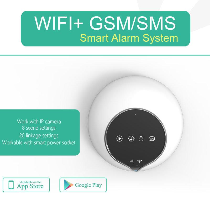 Système d'alarme WiFi + Système d'alarme GSM réalisable avec 100pcs Prise intelligente