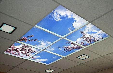 Ciel Bleu Blanc Led Du Panneau De Plafond De Nuages De Lumiere Pour